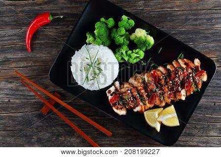 Tasty Teriyaki Chicken Breasts With Rice