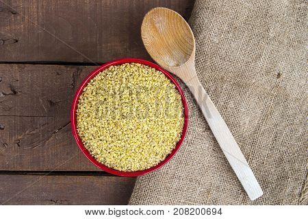 bulgur, boiled and pounded wheat. turkish bulgur pictures, turkish bulgur in plates, bulgur pilaf to make.