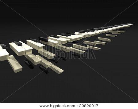 Fall Of Long Keyboard
