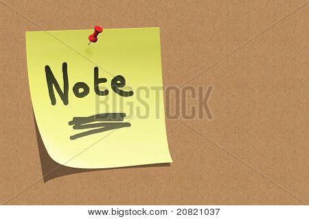 Sticky Note On Board