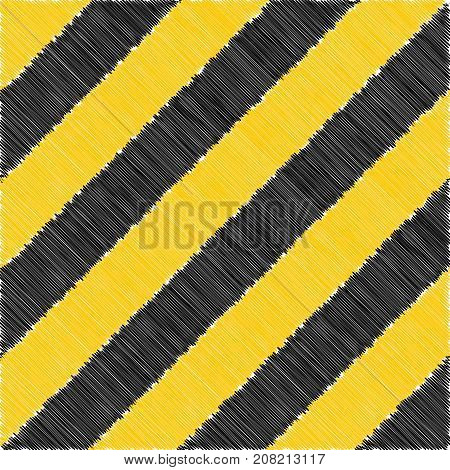 road orange banner background hand drawn, vector stripe safety background, warning caution construction stripes icon, danger borde