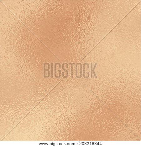 Metallic golden foil texture. Pale pink gold foil square vector background. Vintage golden texture swatch. Golden foil backdrop for elegant wedding invitation. Rose gold wallpaper or banner template