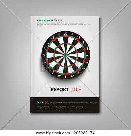 Brochures book or flyer with dart board template vector eps 10