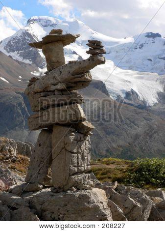 Inukshuk And Glacier