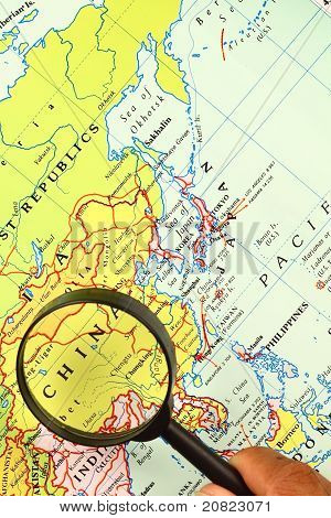 The Magnifying Glass And A Map
