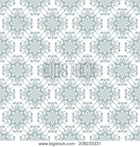 Wallpaper baroque damask. Blue and white vector background. Vintage ornament. background for wallpaper printing on the packaging paper textiles tile.
