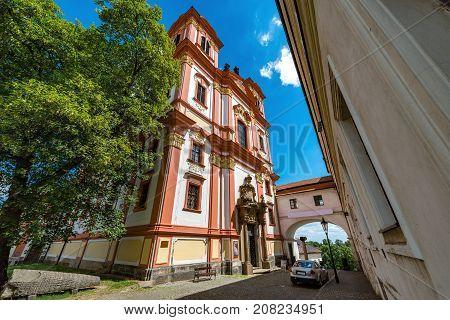 Kostel Zvestovani Panny Marie in Litomerice, Czech republic.