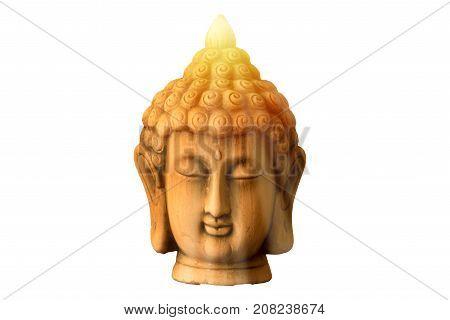 The buddha under a sun on white background