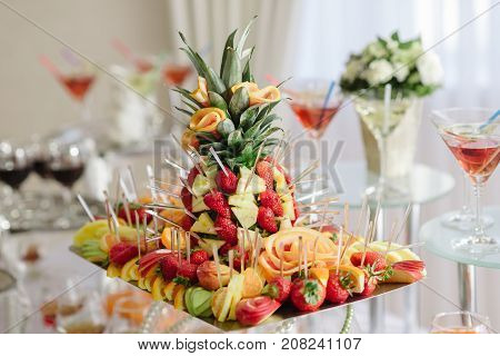 Fruit Tray On The Wedding Table