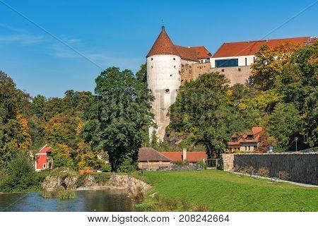 Castle water tower in the German town Bautzen