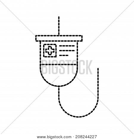 medical plastic bag iv hanging medicine treatment vector illustration