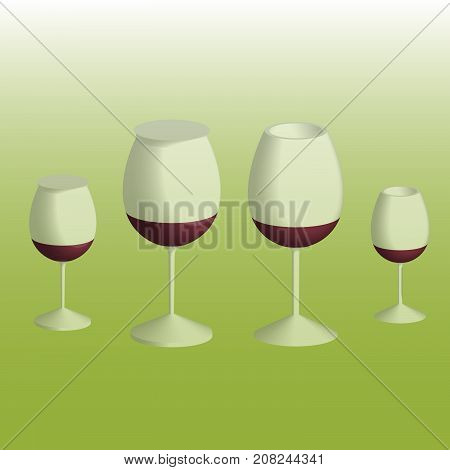 glasses for serving wines of different types