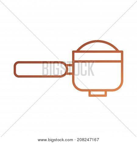 portafilter epresso coffee machine accessory vector illustration