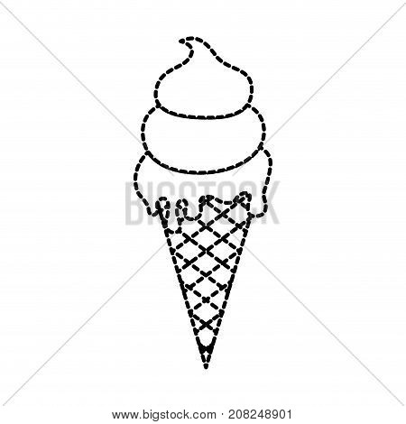 ice cream sundae dessert delicious cold vector illustration