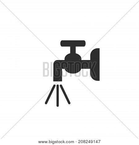 Water tap grey icon. Water faucet sign. Vector isolated illustration.