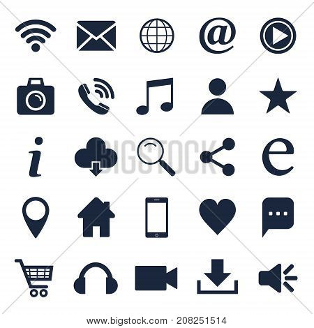 Social icon set. For social networking. Web site icons. Vector isolated objects.