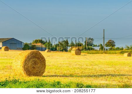 Countryside And Haystacks In Hauts-de-france