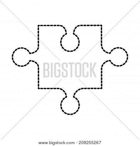 toy one piece puzzle jigsaw strategy game vector illustration