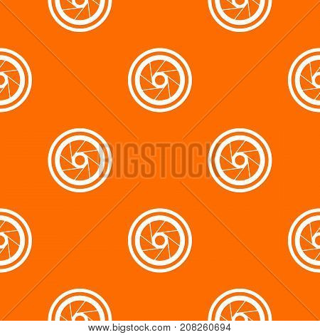 Big objective pattern repeat seamless in orange color for any design. Vector geometric illustration