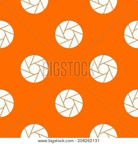 Little objective pattern repeat seamless in orange color for any design. Vector geometric illustration
