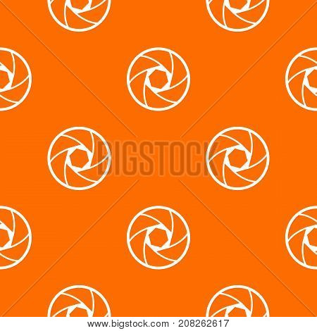 Professional objective pattern repeat seamless in orange color for any design. Vector geometric illustration