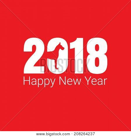 Happy New Year 2018 dog chines new year