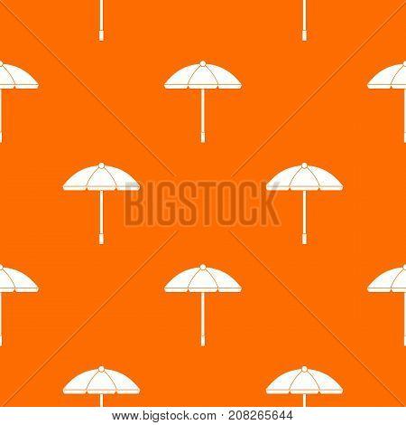 Sun umbrella pattern repeat seamless in orange color for any design. Vector geometric illustration