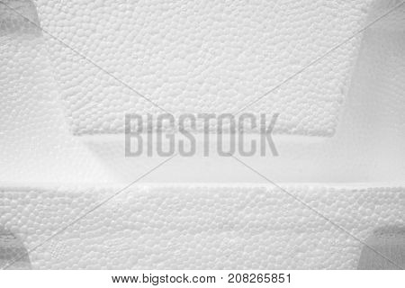 3D White Texture - Close Up Image of Polystyrene Hampers Stacked on Top of One Another