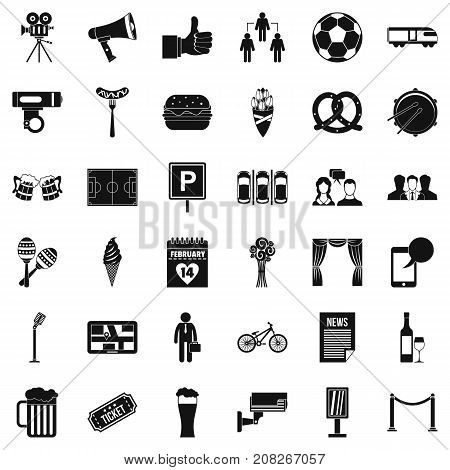 Occasion icons set. Simple style of 36 occasion vector icons for web isolated on white background