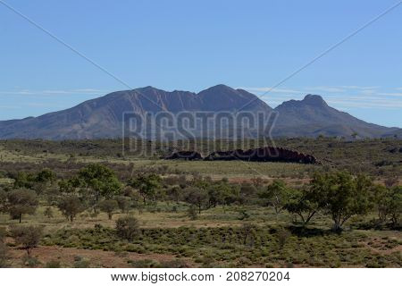 Mount Sonder, in Central Australia, also known as