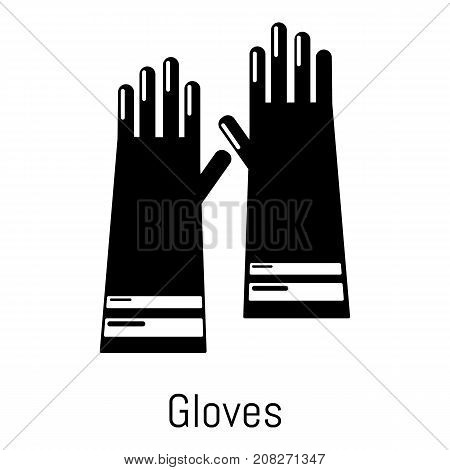 Gloves cleaning icon. Simple illustration of gloves cleaning vector icon for web