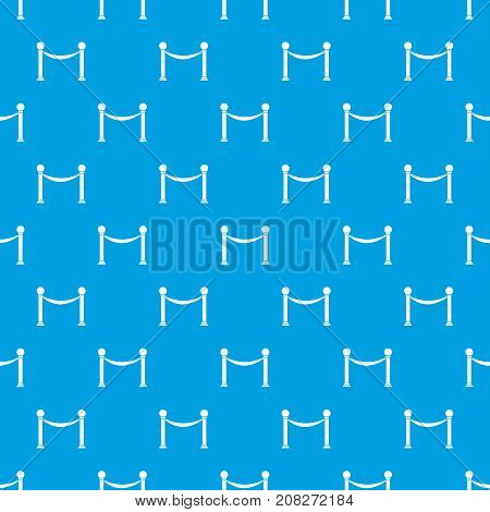 Column with ribbon pattern repeat seamless in blue color for any design. Vector geometric illustration