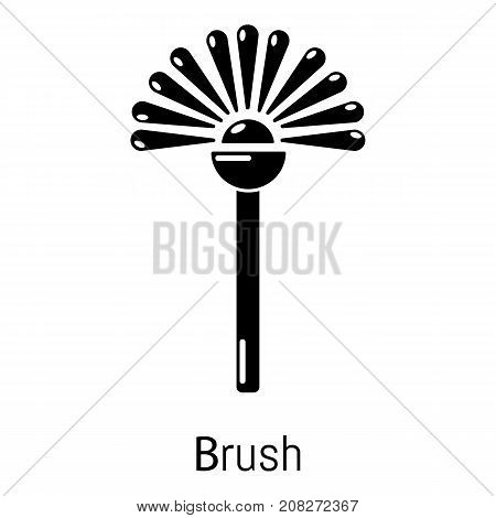 Toilet brush icon. Simple illustration of toilet brush vector icon for web