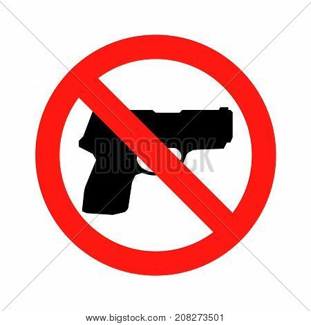 No gun sign No weapon symbol icon vector illustration eps