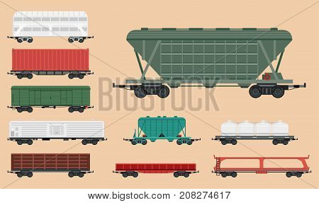 Train carriages car railway without striping travel railroad passenger locomotive vector wagon transport. Modern vehicle station track car technology business traffic transportation.