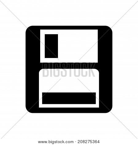 magnetic floppy disc icon for computer data storage vector illustration
