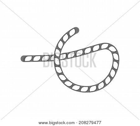 Rope knot icon. Seamless decorative design element, creative handmade isolated vector illustration