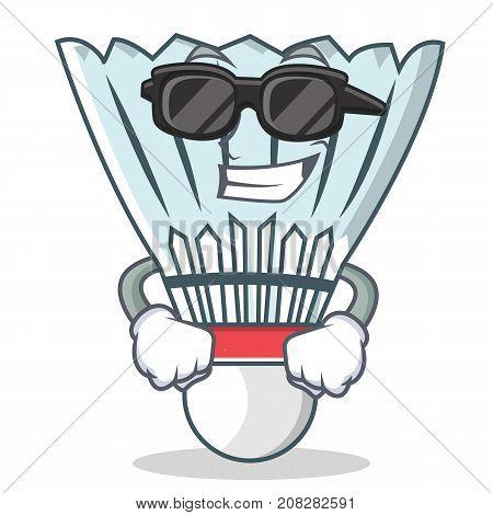 Super cool shuttlecock character cartoon vector art illustration