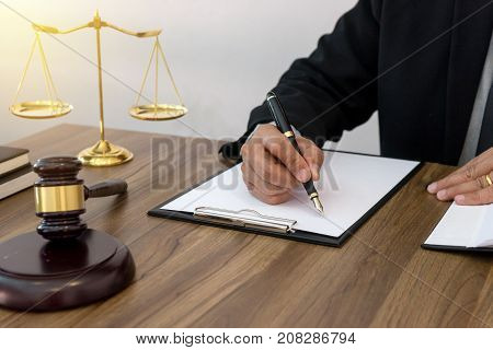 Lawyer Or  Judge Work In The Office