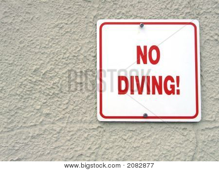 Red No Diving Sign