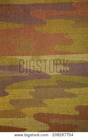 Military camouflage texture of a piece of textile