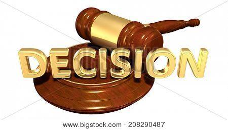 Decision Law Concept 3D Illustration