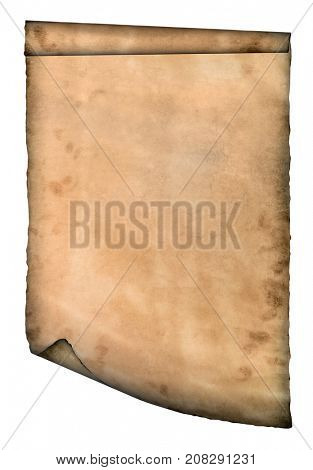 Old page curved paper curves paper parchment background