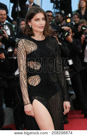 Laetitia Casta   attends the screening of 'The Unkown Girl (La Fille Inconnue)'  at the 69th Festival de Cannes. May 18, 2016  Cannes, France