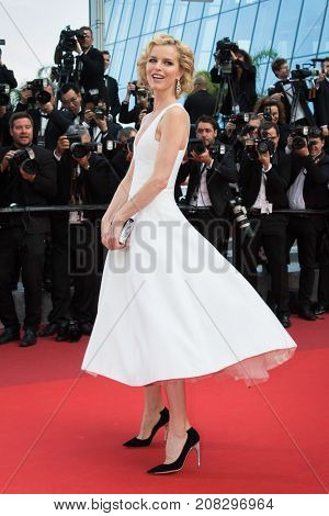 Eva Herzigova  attends the screening of 'The Unkown Girl (La Fille Inconnue)'  at the 69th Festival de Cannes. May 18, 2016  Cannes, France