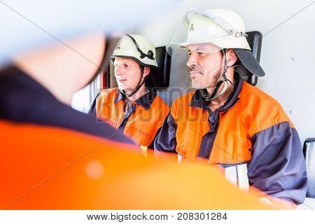 Fire brigade having operation meeting