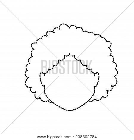 dotted shape default avatar woman to social user vector illustration
