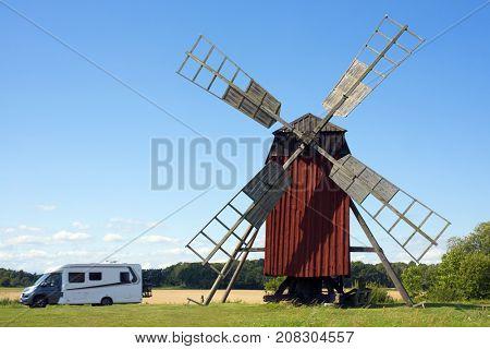 Wiindmill on Swedish island Oland