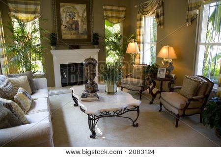 Living Room With Fireplace 1364