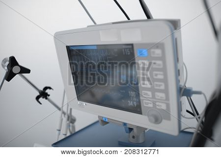 Life support monitoring in the critical care unit.